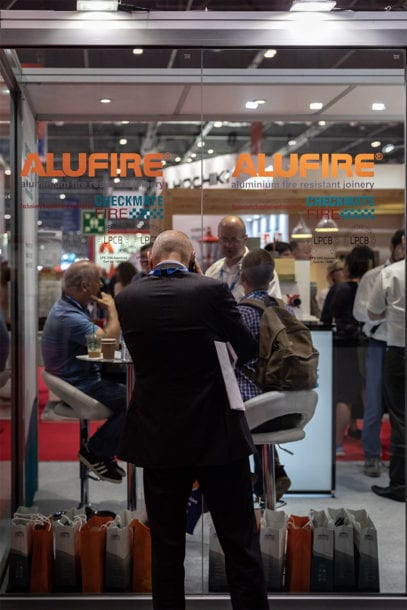 news trade2018 2 407x610 Alufires participation in 2018 UK trade shows
